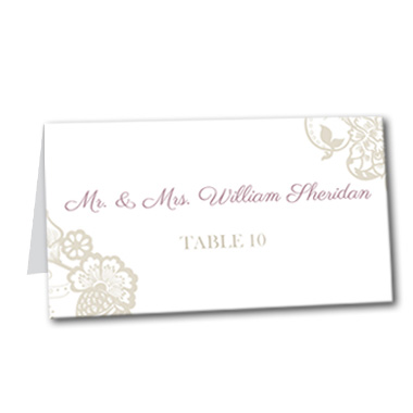 Blissful Garden Table Card