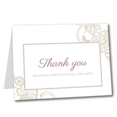Blissful Garden Thank You Card