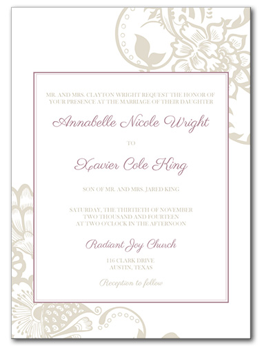 Blissful Garden Wedding Invitation
