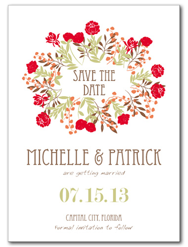 Blissful Bouquet Save the Date Card