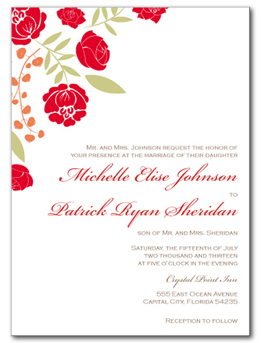 Blissful Bouquet Wedding Invitation
