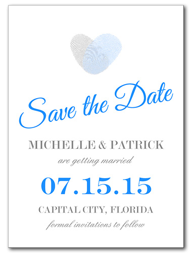 Blue Thumbprint Save the Date
