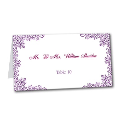 Blue Violet Table Card