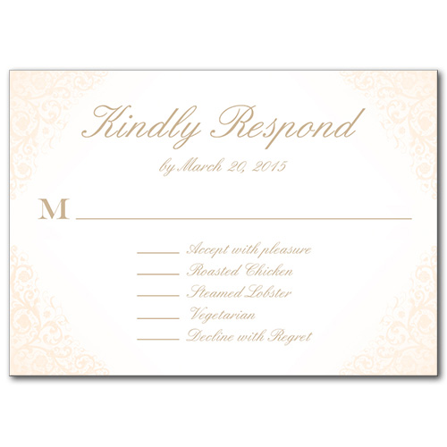 Blushed Rose Response Card