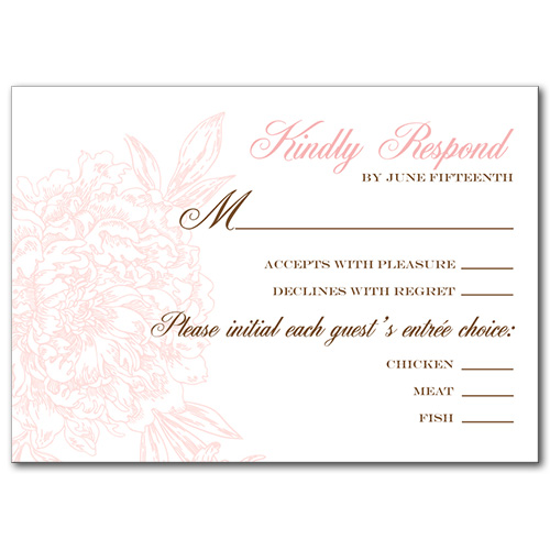 Blushed Blossom Response Card