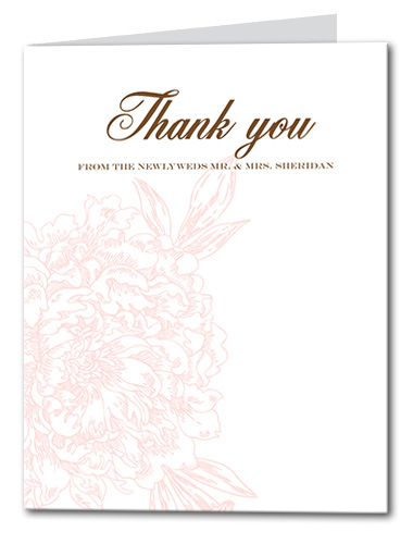 Blushed Blossom Thank You Card