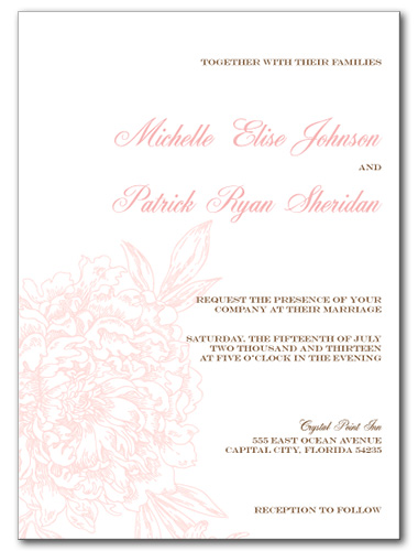 Blushed Blossom Wedding Invitation