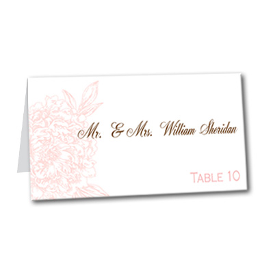 Blushed Blossom Table Card