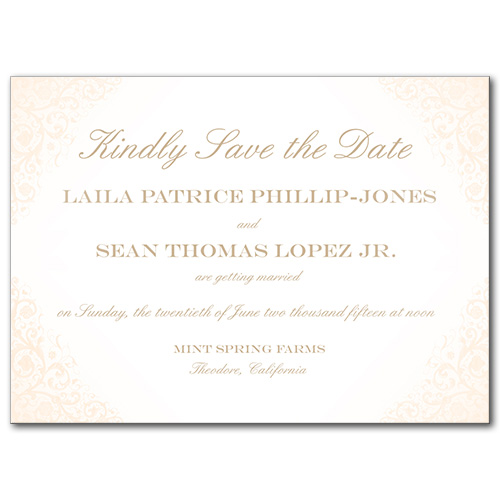 Blushed Rose Save the Date Card