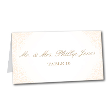Blushed Rose Table Card