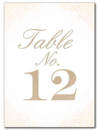 Blushed Rose Table Number