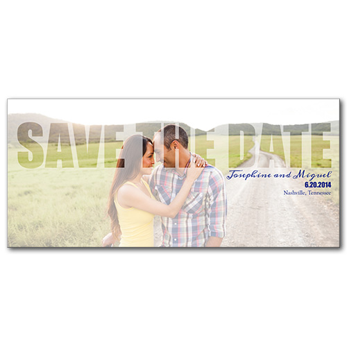 Brilliantly Sheer Save the Date Card