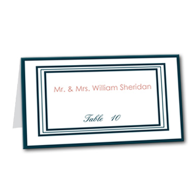 Candy Stripes Table Card