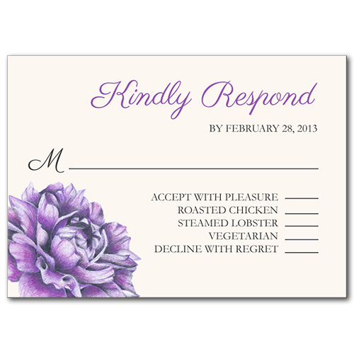 Charming Floral Response Card