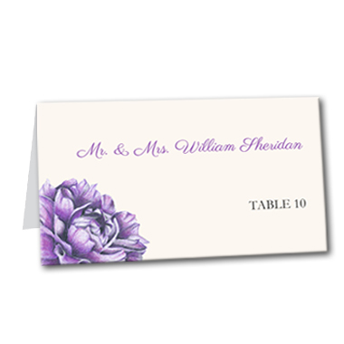 Charming Floral Table Card