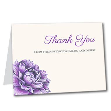 Charming Floral Thank You Card