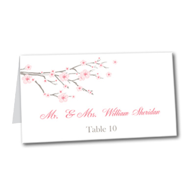 Cherry Blossom Table Card