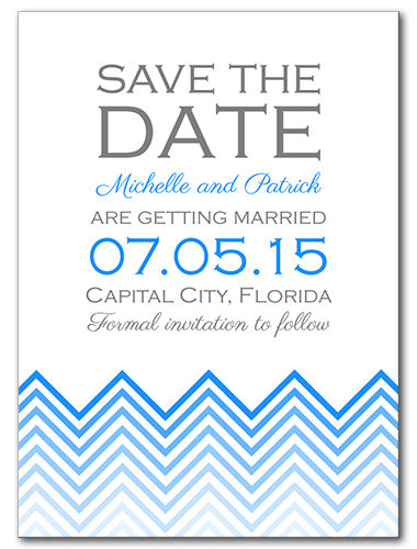 Chevron Chic Save the Date