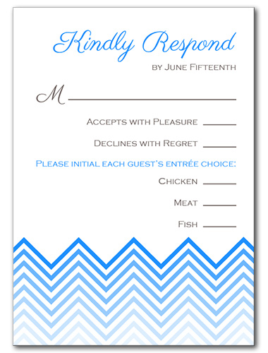 Chevron Chic Response Card