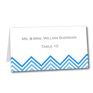 Chevron Chic Table Card