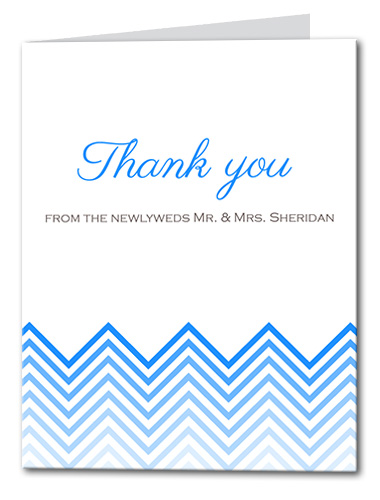 Chevron Chic Thank You Card
