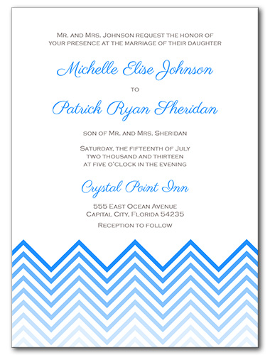 Chevron Chic Wedding Invitation
