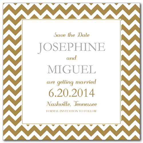 Classic Celebration Square Save the Date Card