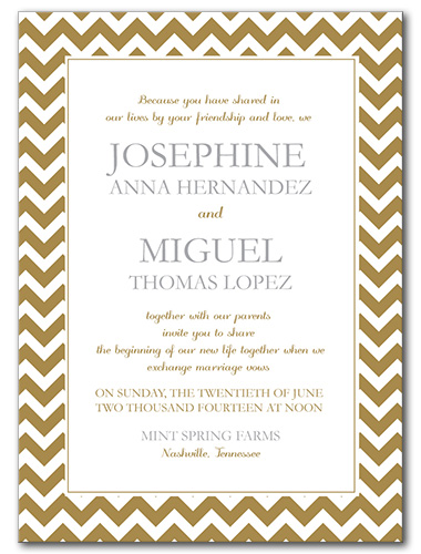 Classic Celebration Wedding Invitation