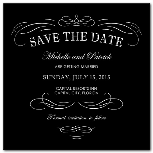 Classic Fashion Square Save the Date