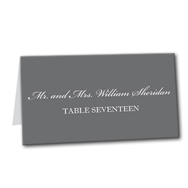Classic Monochrome Table Card