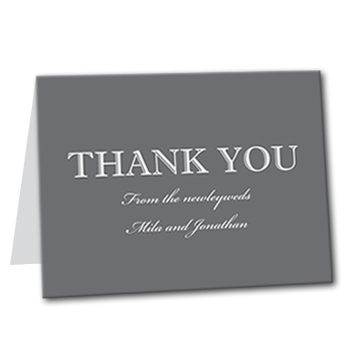 Classic Monochrome Thank You Card