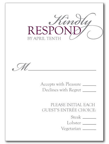 Classic Soiree Response Card