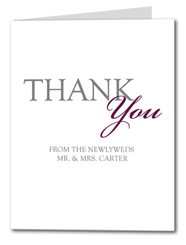 Classic Soiree Thank You Card