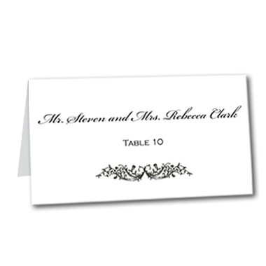 Classic Vines Table Card