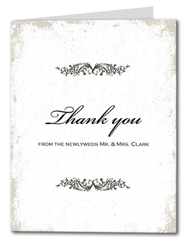 Classic Vines Thank You Card