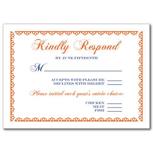 Clearly Clementine Response Card