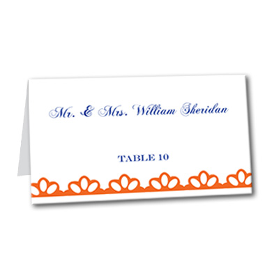 Clearly Clementine Table Card