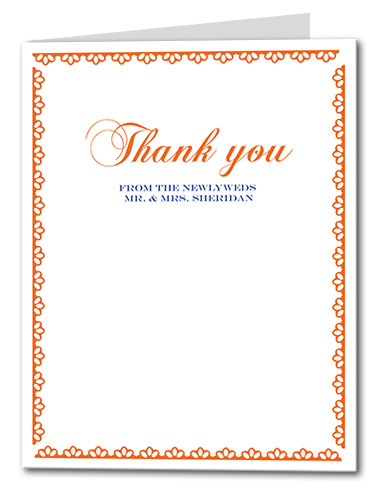 Clearly Clementine Thank You Card