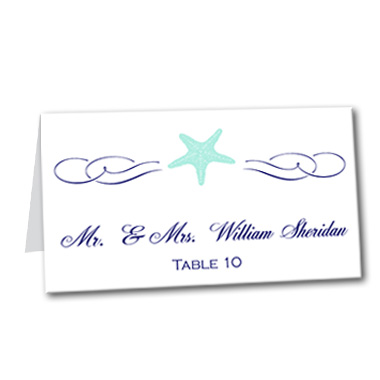 Coastal Breeze Table Card