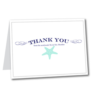 Coastal Breeze Thank You Card