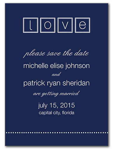 Contemporary Love Save the Date