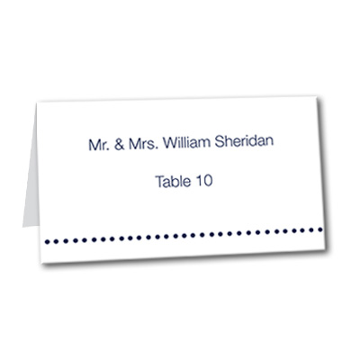 Contemporary Love Table Card