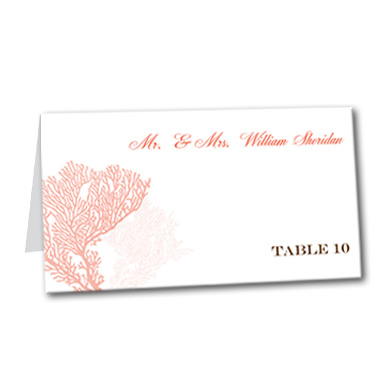 Coral Delight Table Card