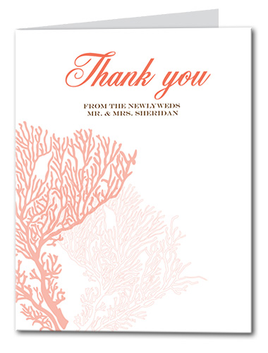 Coral Delight Thank You Card