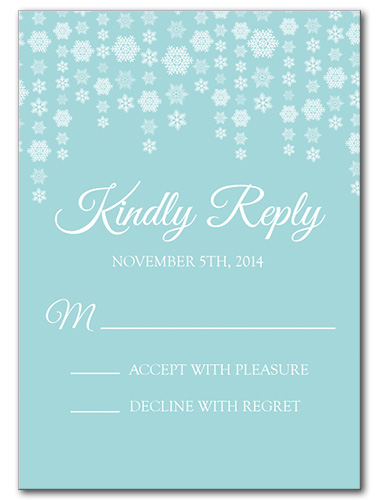 Dazzling Snowflakes Response Card