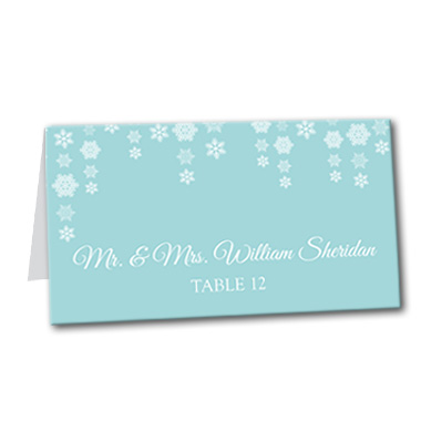 Dazzling Snowflakes Table Card
