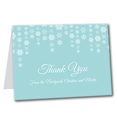 Dazzling Snowflakes Thank You Card