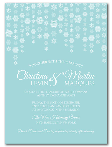 Dazzling Snowflakes Wedding Invitation