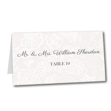 Decadent Monogram Table Card