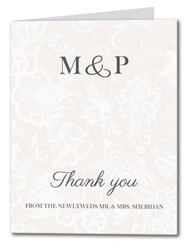 Decadent Monogram Thank You Card